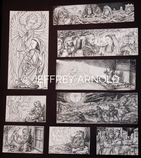 Advent Sheet | Pen and Ink Clip Art