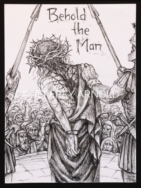 Behold the Man | Pen and Ink Illustration