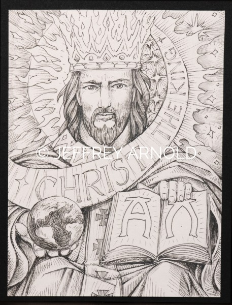 Christ the King | Pen and Ink Illustration