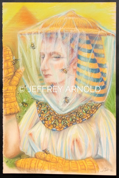 Egyptian Bee Keeper | Pastel Drawing