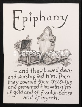 Epiphany - The Gifts | Pen and Ink Illustration