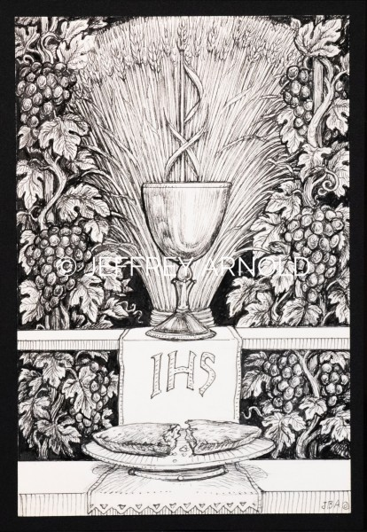 Eucharist 1 | Pen and Ink Illustration