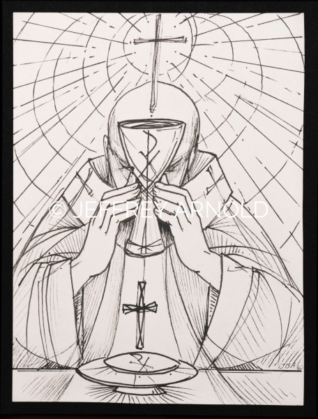 Eucharist 2 | Pen and Ink Illustration