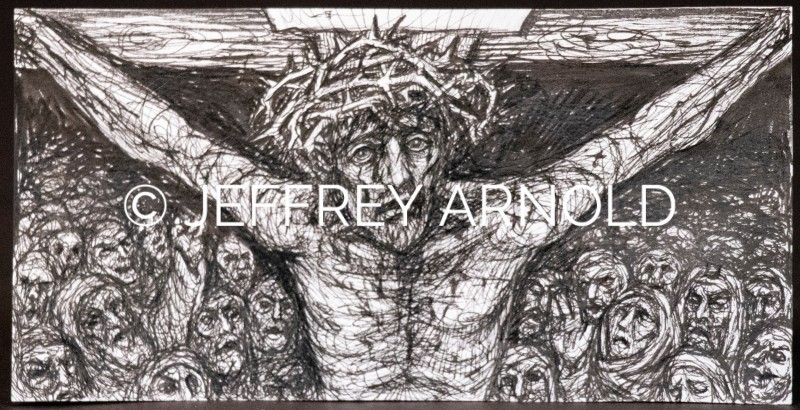 Crucifixion's Darkest Hour | Pen and Ink Clip Art