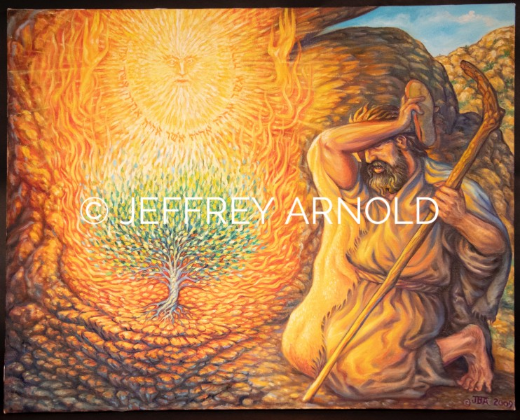 Moses Burning Bush | Oil Painting