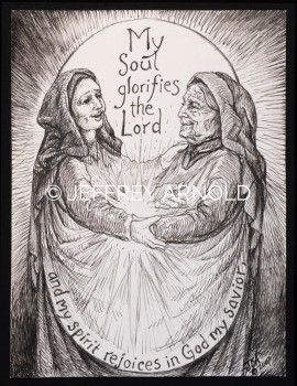 My Soul Glorifies | Pen and Ink Illustration