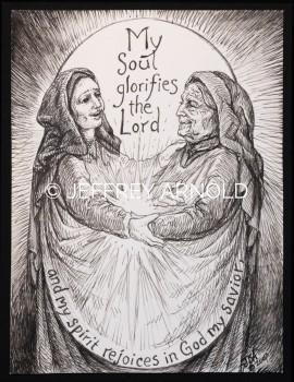My Soul Glorifies | Pen and Ink Illustration