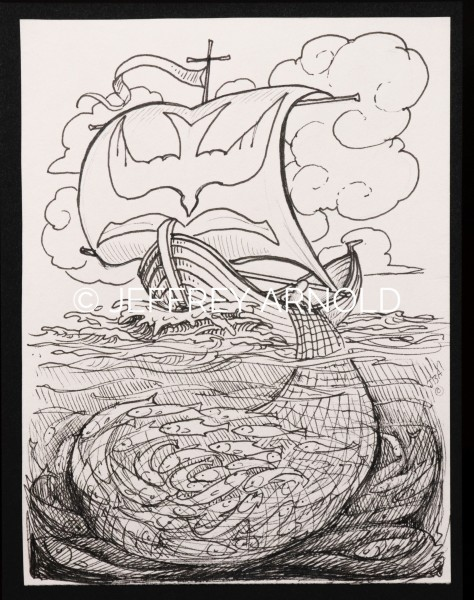 Ship of Faith | Pen and Ink Illustration