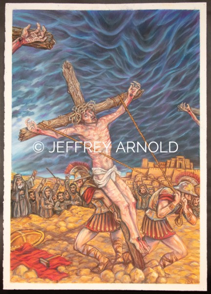 The Crucifixion | Pastel Drawing
