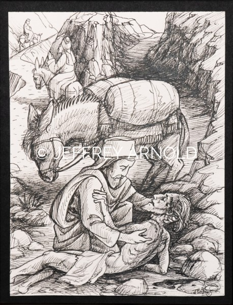 The Good Samaritan | Pen and Ink Illustration