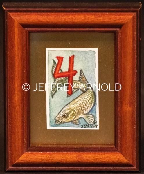 #4 Fish   Watercolor Painting