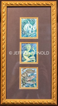 Creatures in Blue   Watercolor Painting