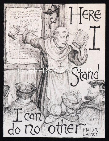 Here I Stand 1 | Pen and Ink Illustration
