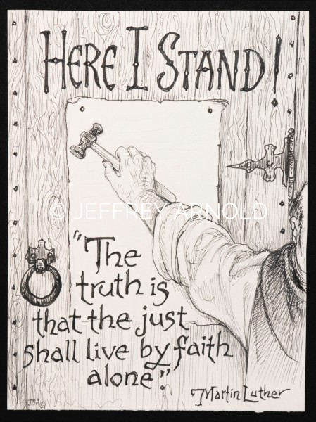 Here I Stand 2 | Pen and Ink Illustration