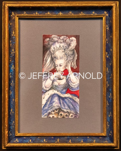Marie Antoinette | Watercolor, Colored Pencil Drawing