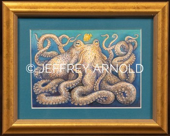 Octopus | Watercolor, Colored Pencil Painting