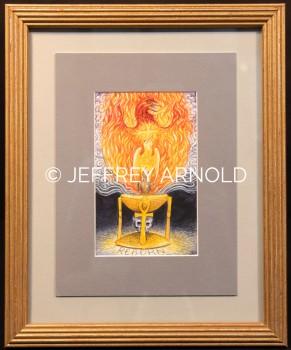 Phoenix Reborn | Watercolor Painting
